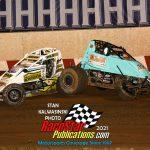 First lap accident victims - Jordan Paulsen (#4) and Rusty Egan (#50).
