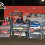 World of Outlaw point leader, Brandon Sheppard took the lead following a lap 20 caution and pulled away for his 15th victory of the season.