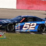 Ricky Baker and his No. 52 qualified 12th fastest but came home third in the 100-lap headliner.