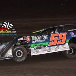 Garrett Alberson (#59) was another early race leader.