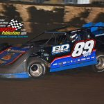 """Mike """"Opie"""" Spatola won the FALS late model track championship this year and finished fourth in the 50-lap main event."""