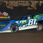 Tanner English and his No. 81 finished second in the 50-lap late model headliner.