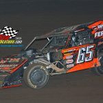 Veteran modified racer Todd Sherman (#65) was in action but went to the pits just before the feature race was to start.