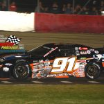 Ty Majeski and his No. 91 on their way to victory in the 60th annual Tony Bettenhausen Memorial 100.