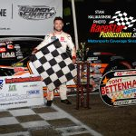 Wisconsin's Ty Majeski was the winner of the 60th annual Tony Bettenhausen Memorial 100 late model stock car special at Illinois' Grundy County Speedway Saturday night.