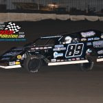 #89 Austin Friedman in only his 8th Modified race, paced group two qualifiers and won his heat race.