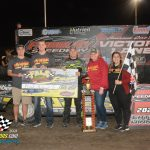 Frank HeckenastJr. was the winner of the 50 lap, $15,000 to win FALS Frenzy as the Fairbury Speedway closed out a successful 2021 season.