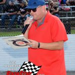 One of the best in the country, Eric Huenefeld handled the announcing duties for the ARCA Midwest Tour during the weekend.
