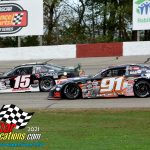 Gabe Sommers (#15) about to be passed by Ty Majeski (#91).